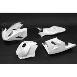 Carénage complet version piste et protection réservoir Avio fibre Carbonin Honda CBR600RR