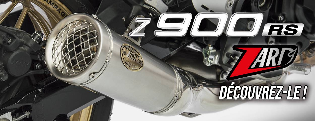 Echappement ZARD Homologué EURO 4 pour la Z900RS