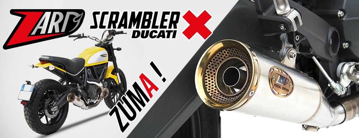 Echappement ZARD ZUMA - Homologué euro 4 POUR DUCATI 800 sCRAMBLER