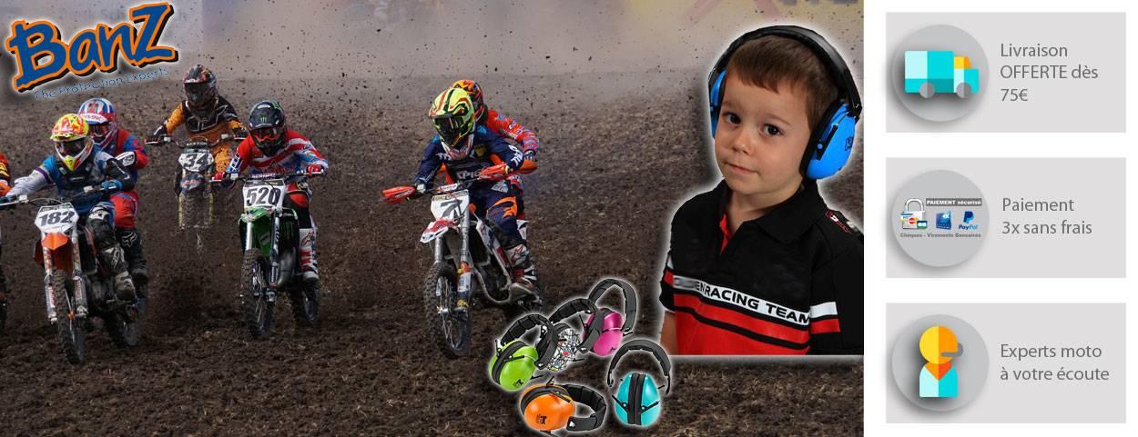 Casque anti-bruit enfants pour concerts circuit moto voiture
