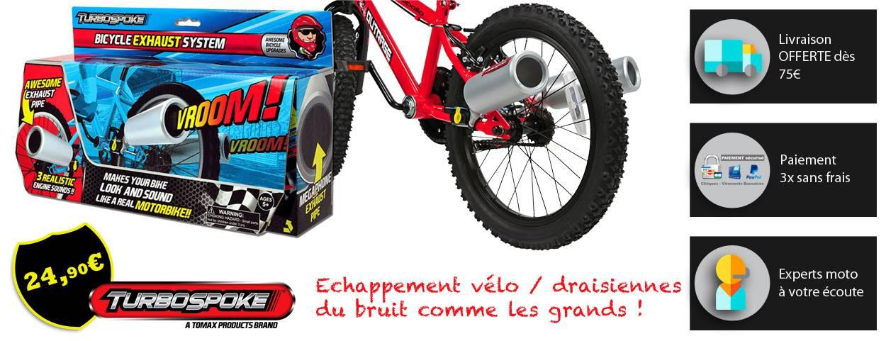 pot échappement vélo draisienne sans pile pas cher pour imiter le bruit moto