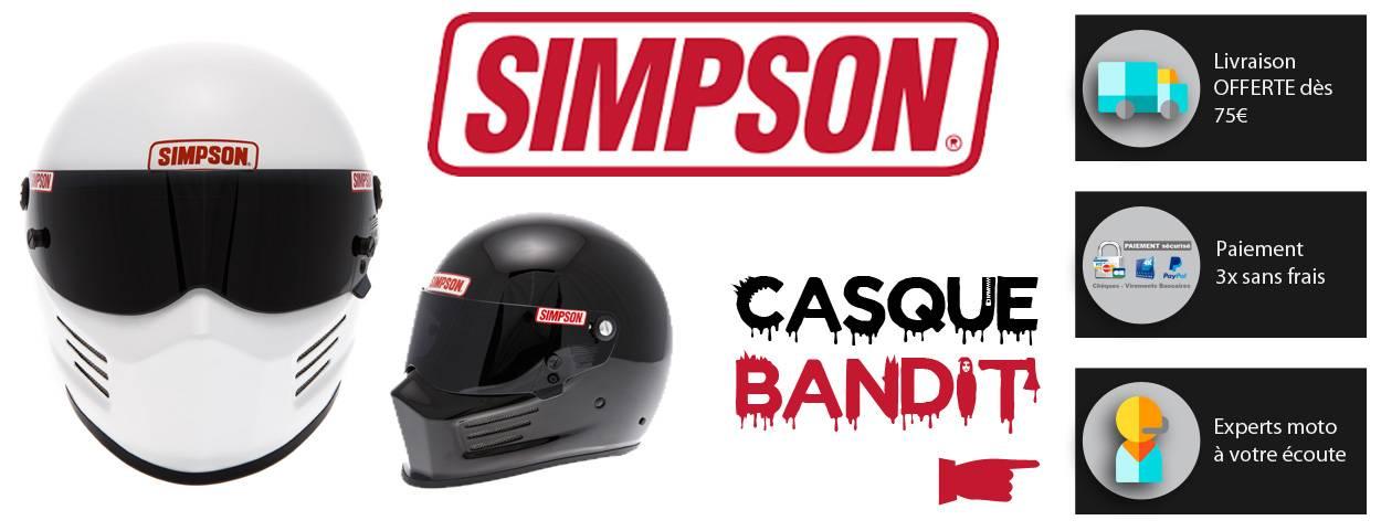 Casque Simpson modèle bandit moto en vente sur boutique en ligne Starshop