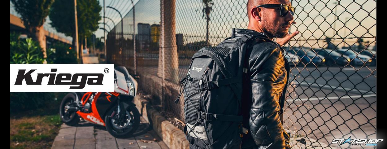 Gamme de sacs moto marque KRIEGA sur Starshop Moto